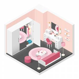 Isometric Girl room