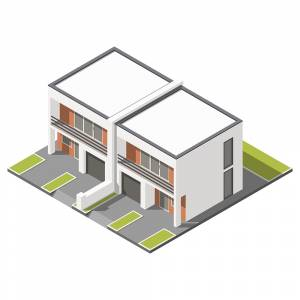 Isometric Two Floor building