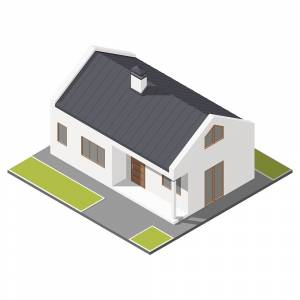 Isometric Two Floor house