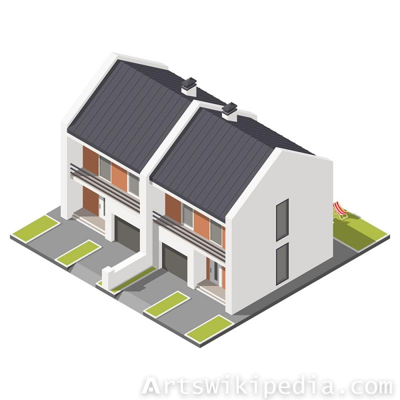 Vector Isometric house