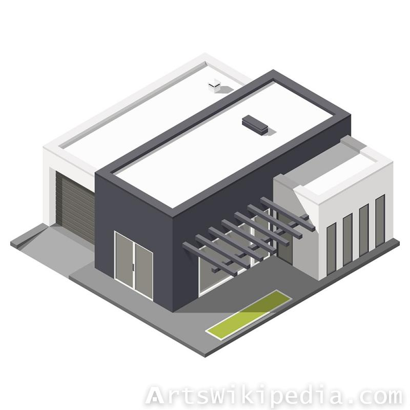 Isometric exterior house