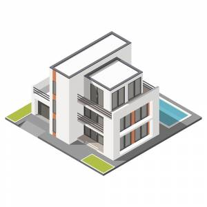 Vector Isometric apartment