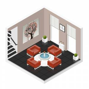 Vector Isometric living room