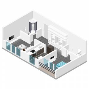 Isometric interior Apartment Layout