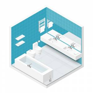 Isometric Bathroom