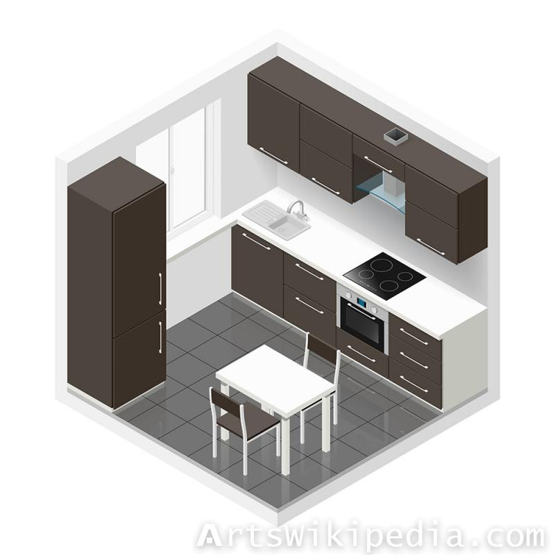 Isometric Kitchen