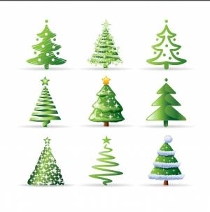 multiple-illustration-for-christmas-trees