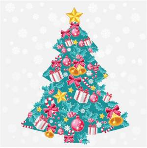 Free blue Christmas tree Vector