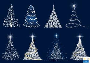 white-glossy-christmas-tree-illustrations
