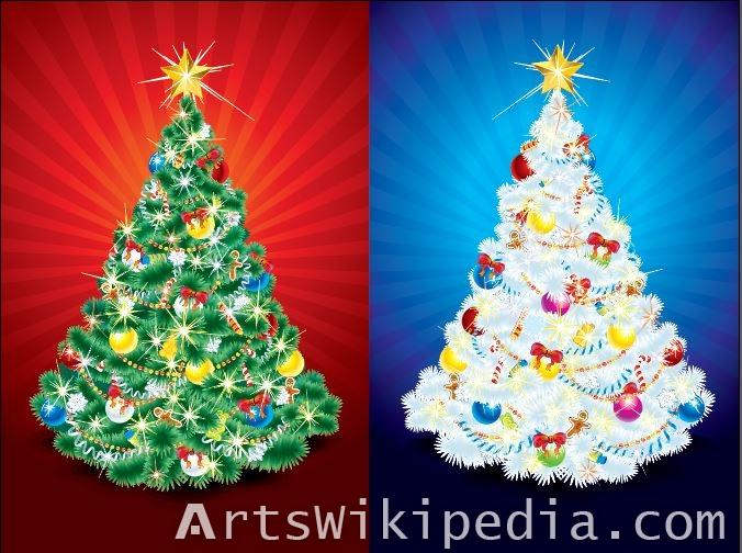 Two Christmas tree Free