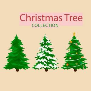 three-christmas-trees-vector