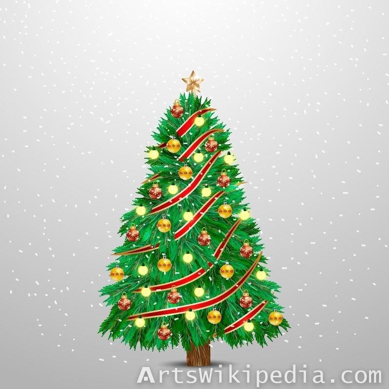 Vector background for Christmas tree