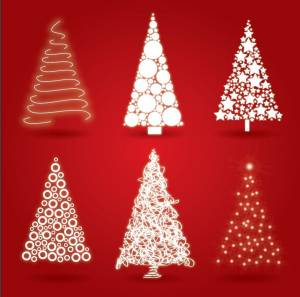white-christmas-tree-vector