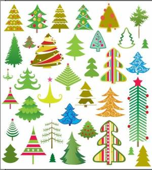 huge-collection-of-christmas-trees-vectors