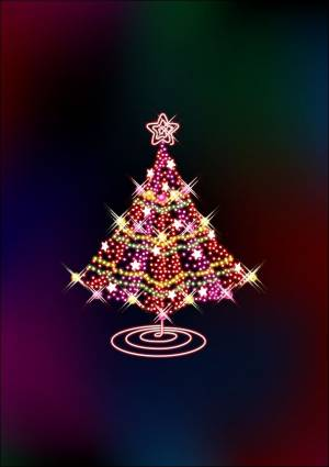 Glittering Christmas Tree Vector art