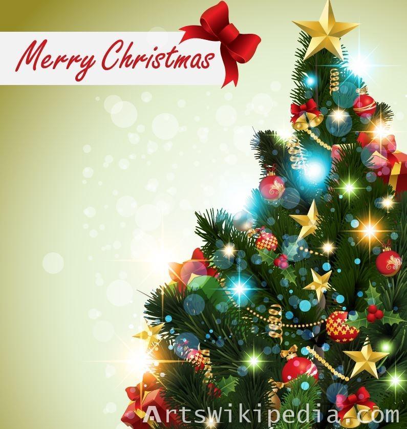 New Christmas tree 2018 vector