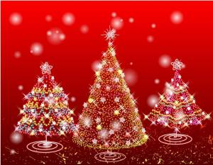 red-christmas-tree-illustrations